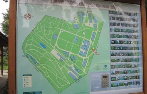 Az arborétum térképe